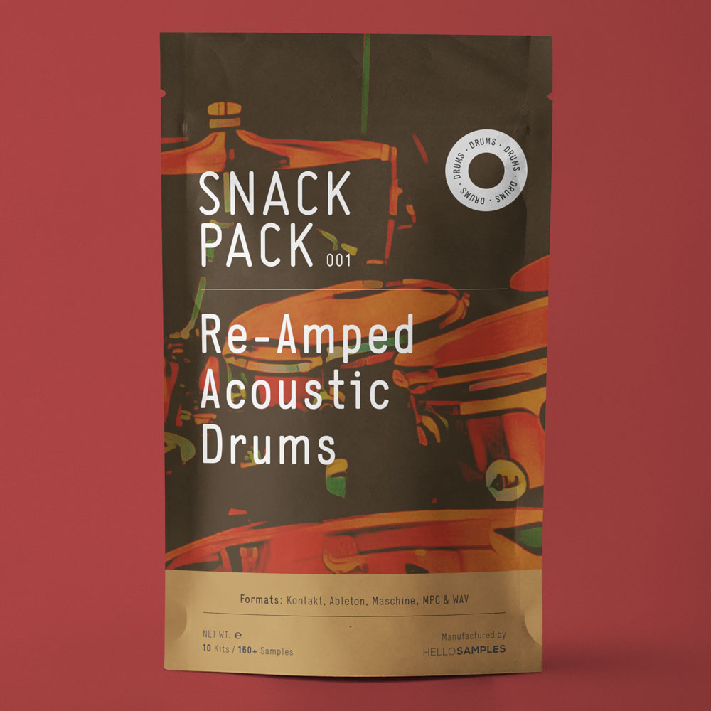 ReAmped Acoustic Drum for Ableton, Maschine & MPC - HelloSamples