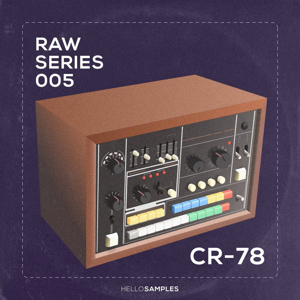 Drum sound pack based on Roland CR-78 Compu Rhuthm analog drum machine in WAV - Kontakt - Ableton - Maschine - Akai MPC format